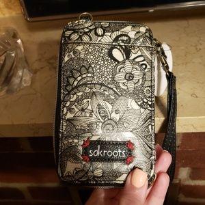 SAKroots wallet/wristlet